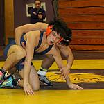 Blackman Wrestler Brentley Khammysing works for an escape