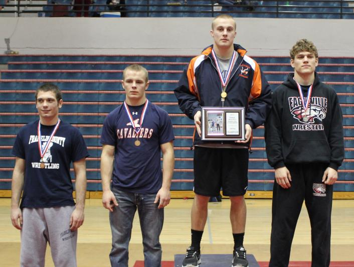 Tyler Sells captures the Region 5 Championship and becomes a state qualifier for Blackman High School at 160 lbs.