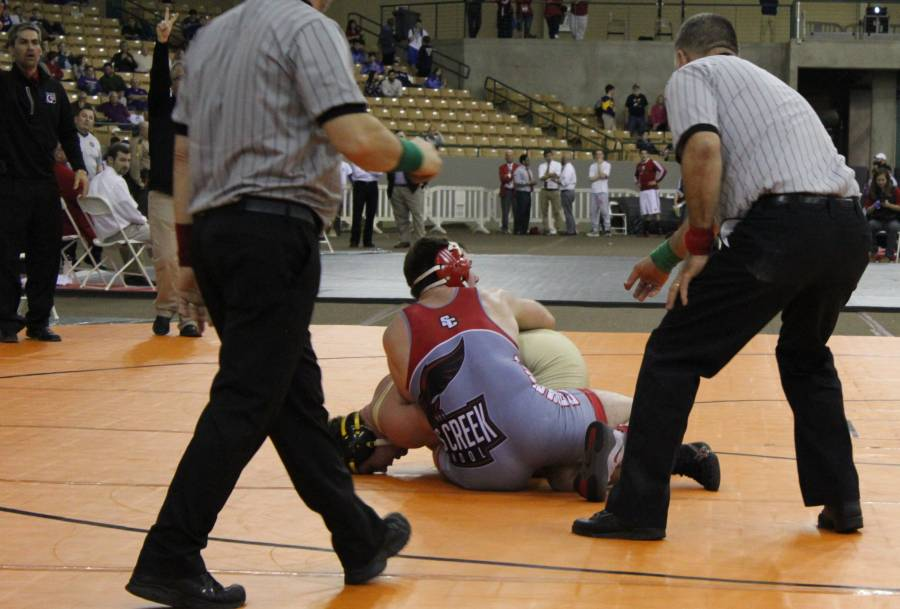 Tyler Barber from Stewarts Creek Appears to Score 2 in the Final Seconds of his Championship Match