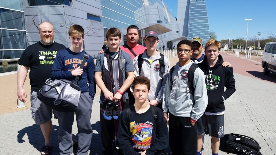 At Virginia Beach: Zack Fowler, Landon Fowler, Matthew Sells, Matt Sells, Brooks Sacharczyk, Ryan Heath, Michael Moultry, Eric Sacharczyk, & Daniel Bradford