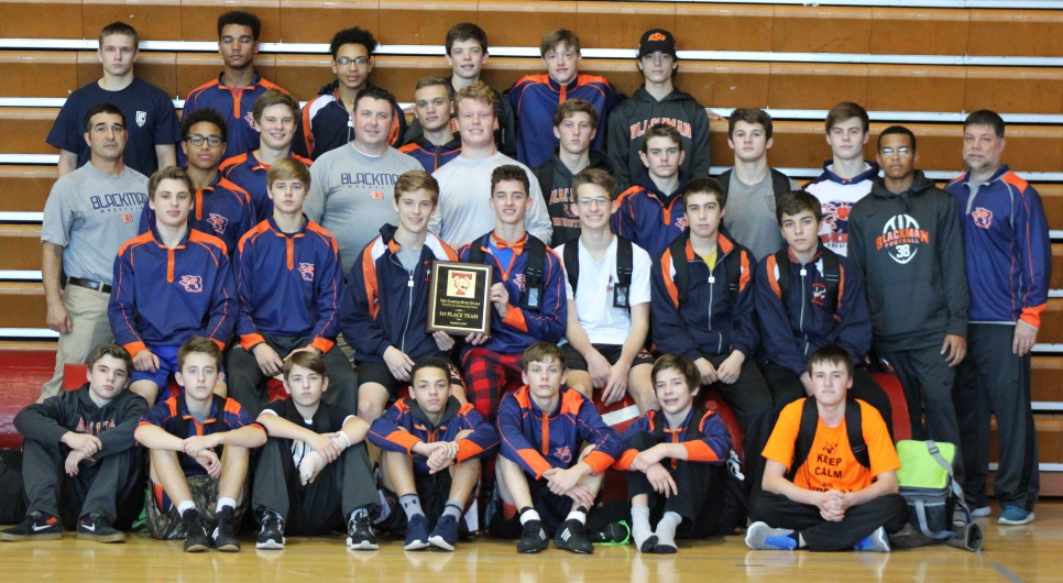 Blackman claims victory at the Garner-Dyer Duals