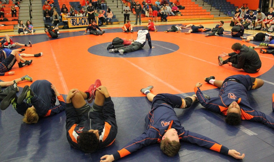Blackman Gets Ready to Wrestle
