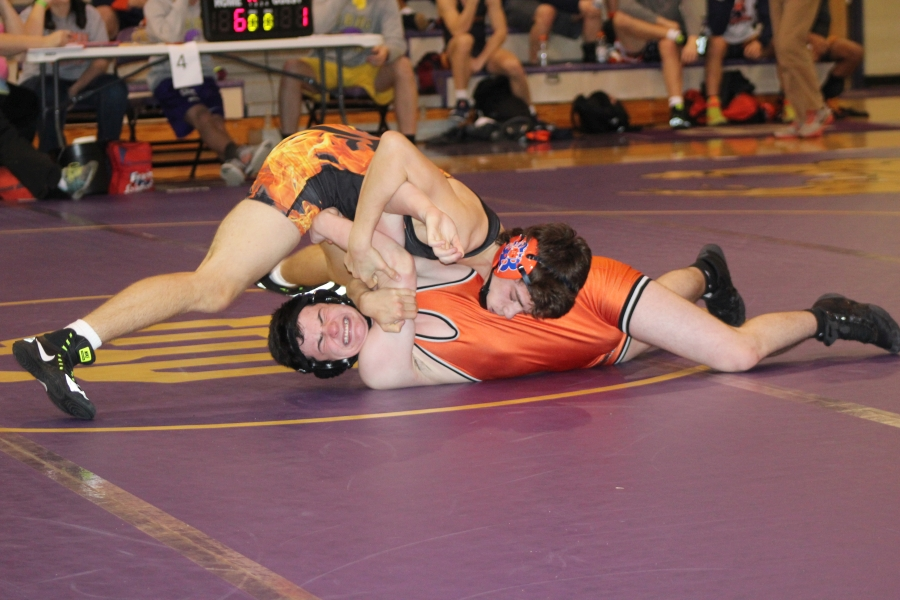 Brooks Sacharczyk works for a pin over Pigeon Forge