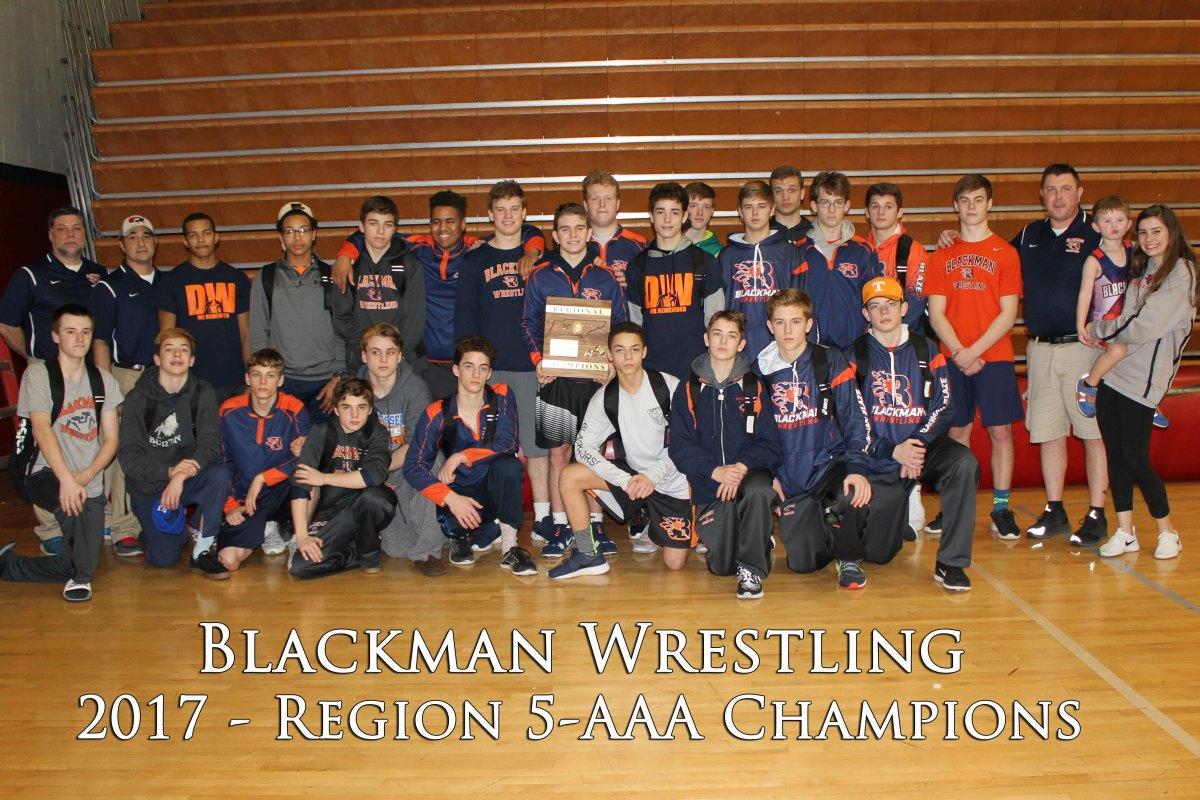 Blackman Wrestling - 2017 Region 5-AAA Champions