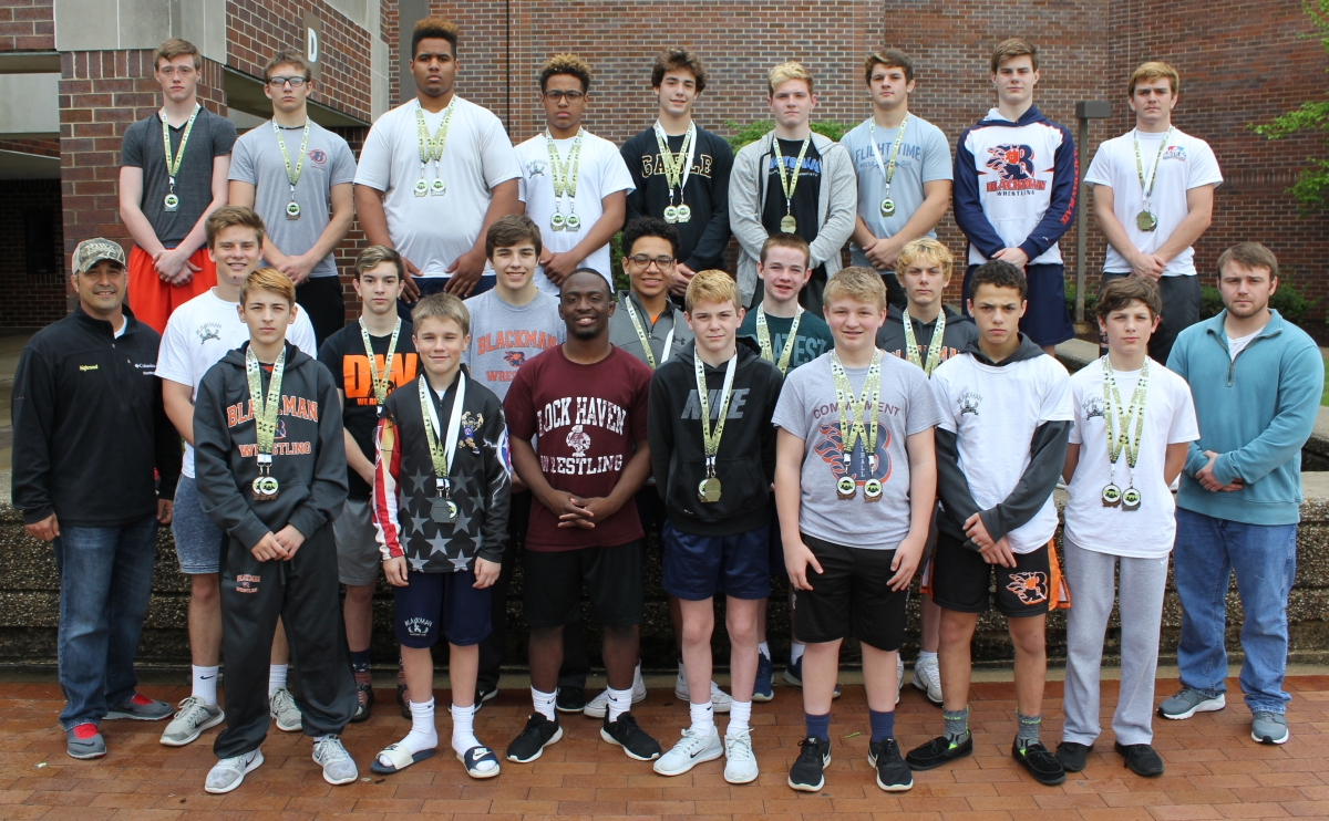 Blackman Wrestling Club at the Penn Freestyle/Greco Rumble in South Bend, IN