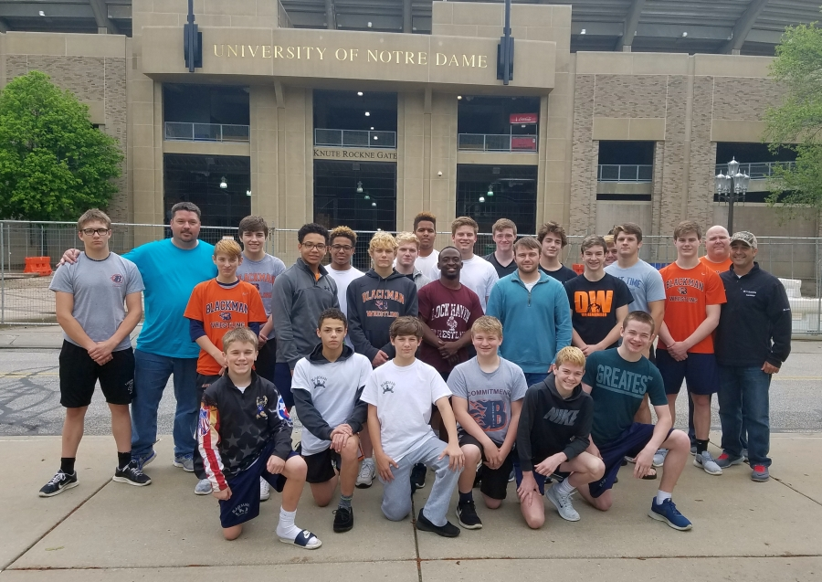 Blackman Wrestling Club at Notre Dame