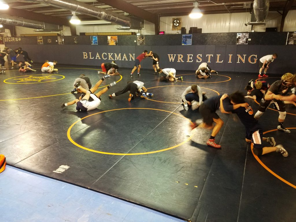 Blackman Wrestling Building Before the Fire