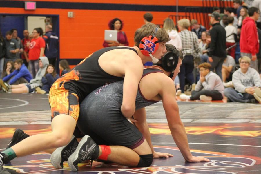 Ryan Heath wrestles Tullahoma