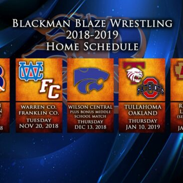 Blackman 18-19 Schedule Released
