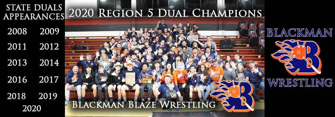 Blackman Blaze - Region 5-AAA Dual Champions